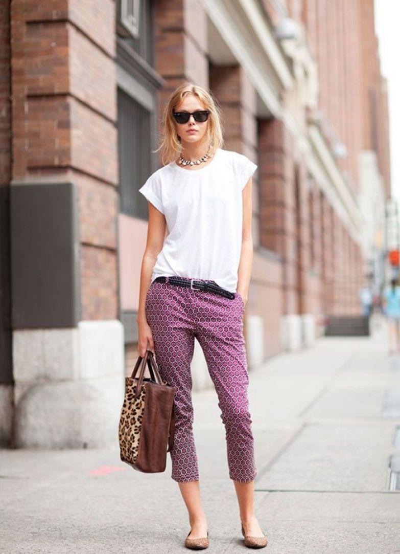 брюки с открытыми щиколотками