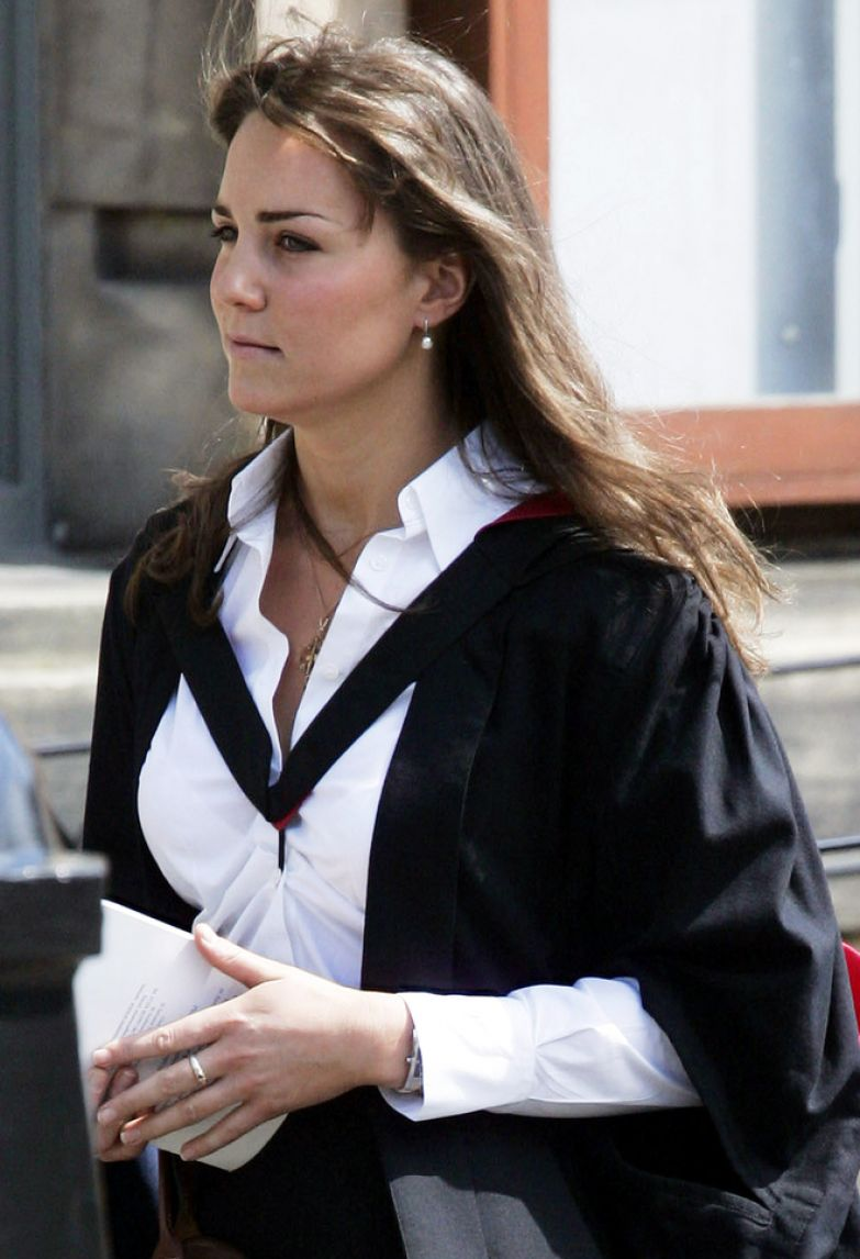 Кейт Миддлтон на выпускном из университета Сент-Эндрюс