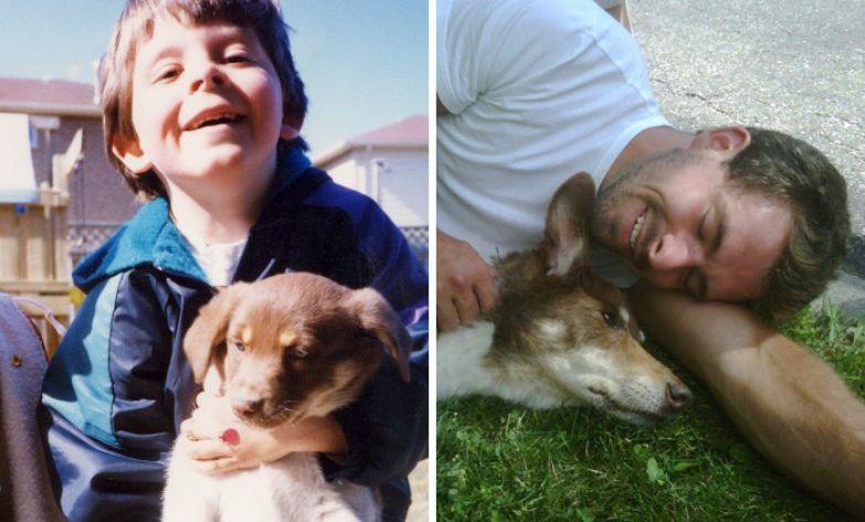 День, когда мы сказали привет и сказали прощай... до и после, друзья, собаки, фото