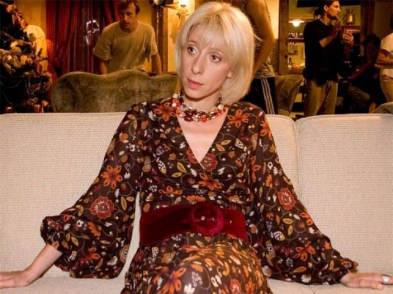 Юлия Рутберг на съемках фильма *Кушать подано, или Осторожно, любовь!*, 2005 | Фото: rewizor.ru