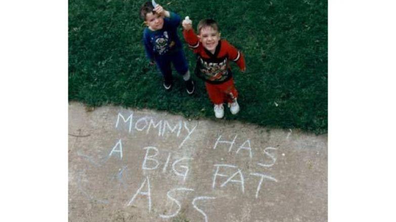 Дети, не надо так откровенно, если только ваша мама не Ким Кардашьян. Она этим гордится.