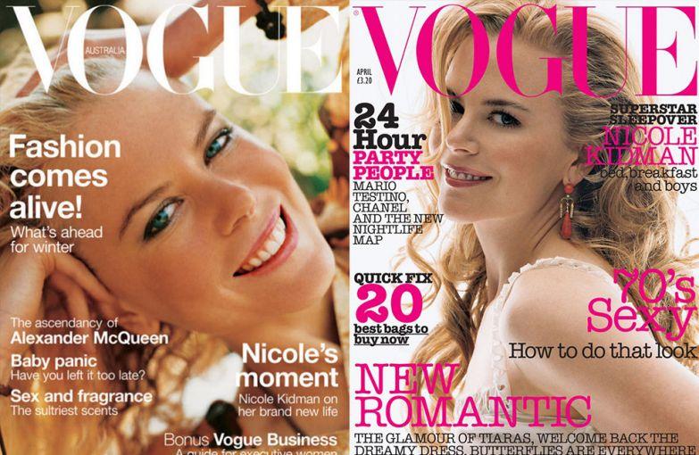 Vogue Австралия, февраль 2003; Vogue UK, апрель 2002