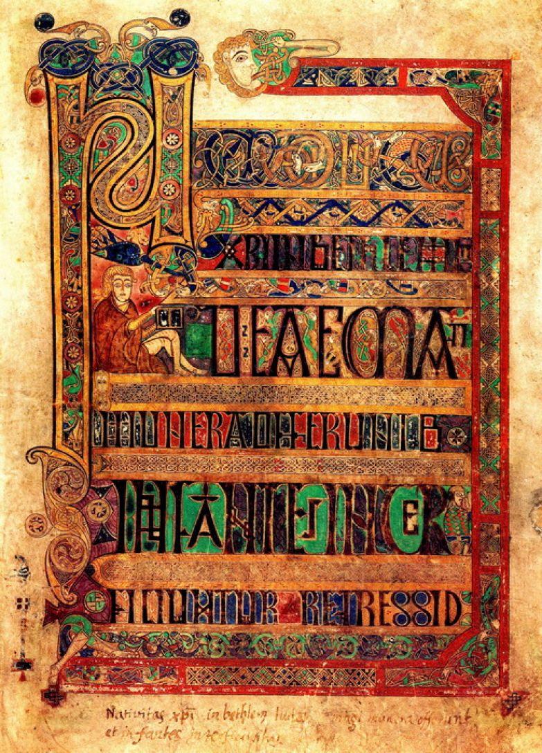 Обложка рукописной Келлской книги