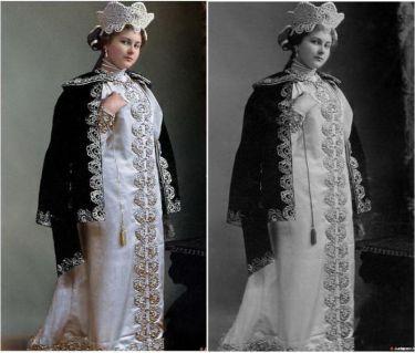 Александра Александровна Танеева в вечернем платье