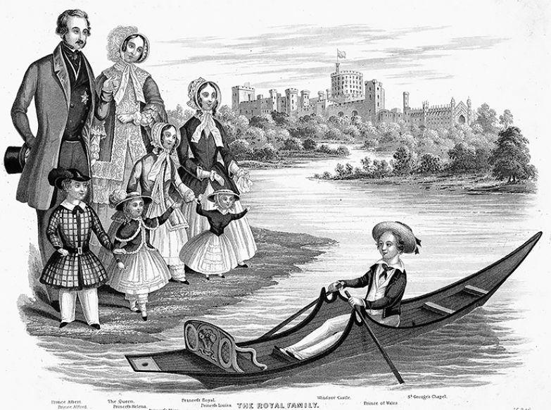 Королева Виктория с мужем и детьми