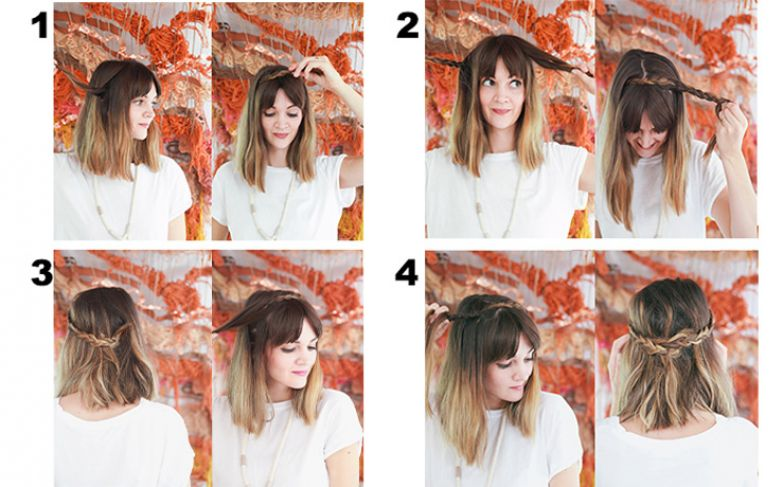 модные женские прически на короткие волосы фото пошагово