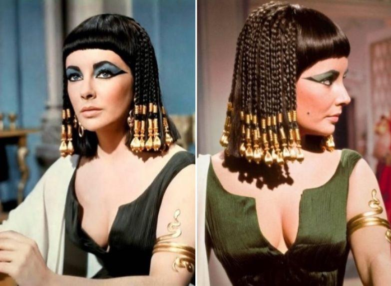 Элизабет Тейлор в роли Клеопатры, 1963