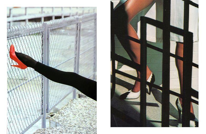 Туфли Maud Frizon в рекламной кампании Mugler, 1978 год и весна-лето 1979 год. Фотограф: Хельмут Ньютон.
