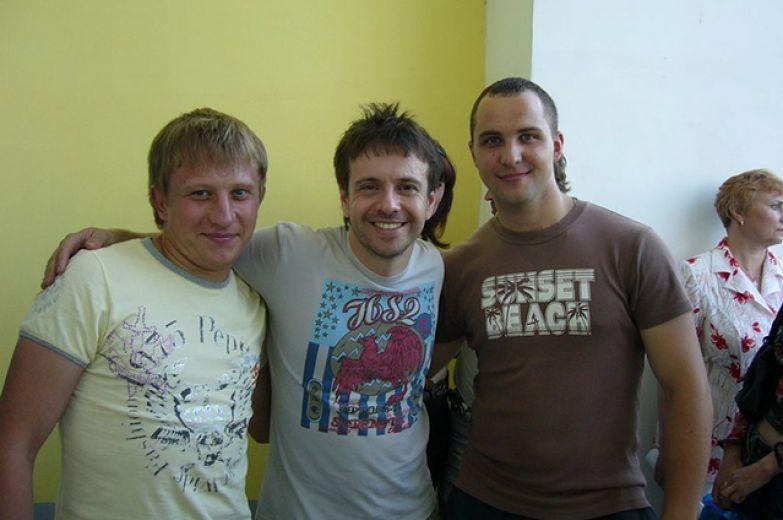 Андрей Губин с поклонниками