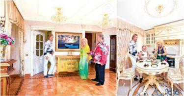 """Интерьеры в квартире Надежды Кадышевой в стиле""""Золотое кольцо"""" вкусы, вычурно, звезды, квартиры"""