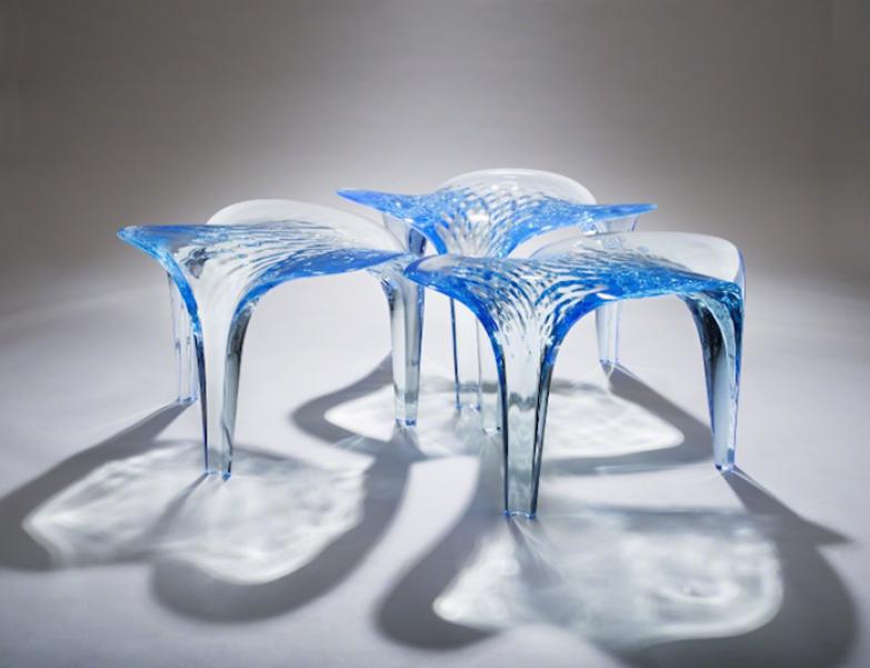 Мебель из экспериментальной серии Liquid Glacial.