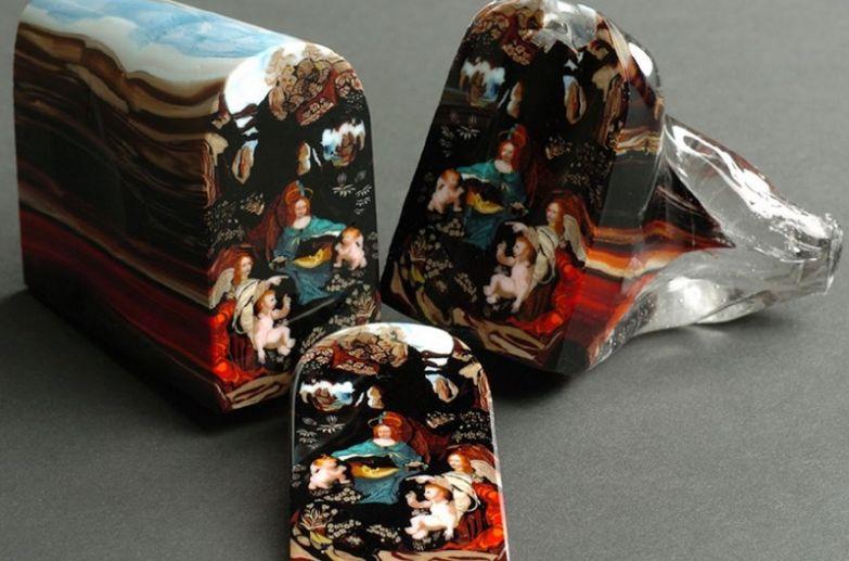 4. Эта художественная «буханка» (техника на самом деле называется «murrine») авторства Лорен Стамп сделана из стекла и каждый «ломтик» стоит $5000: интересные фото, удивительное рядом, факты