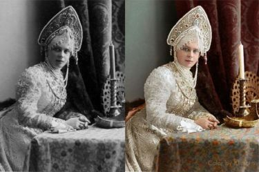 Княжна Зинаида Николаевна Юсупова в платье 17 века