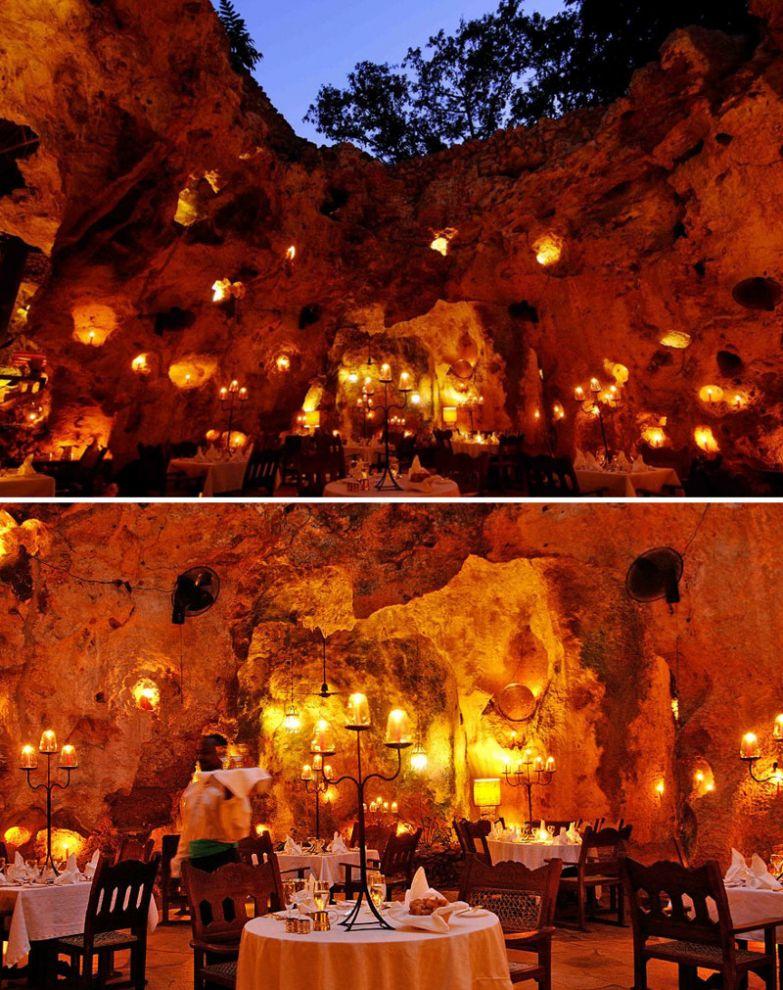 Ресторан в пещере, Ali Barbour's Cave Restaurant, Кения мир, подборка, ресторан