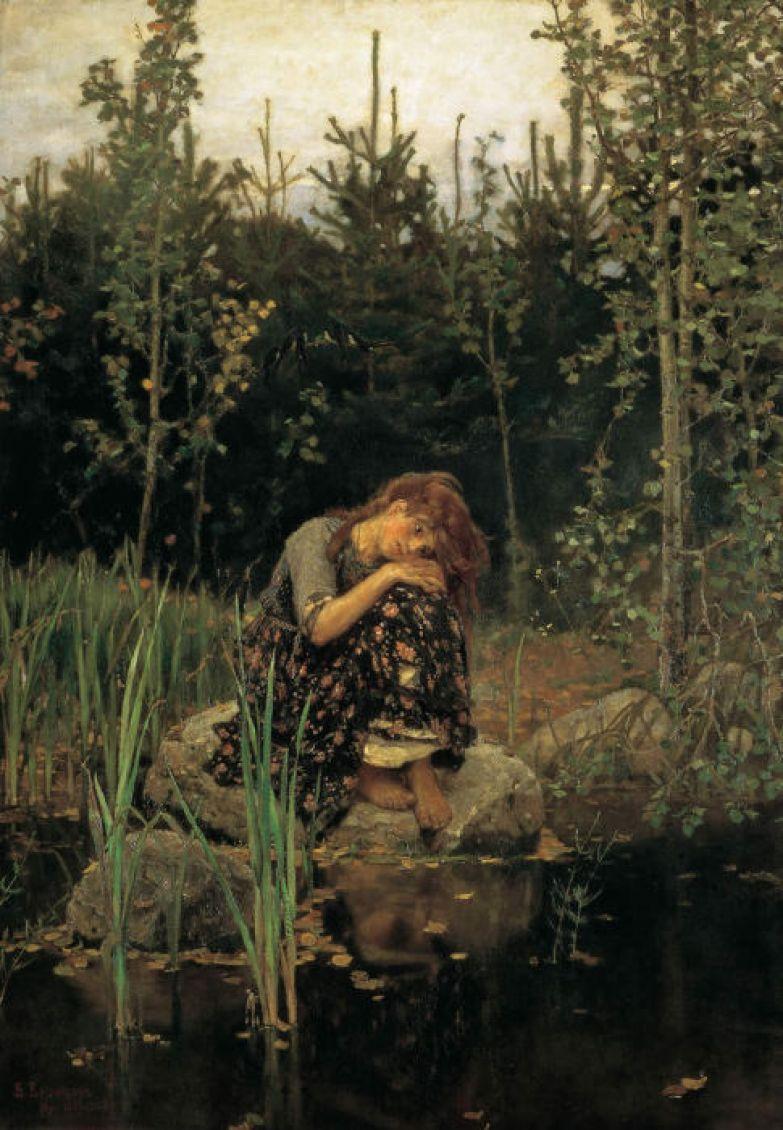 Картина Васнецова *Алёнушка*.