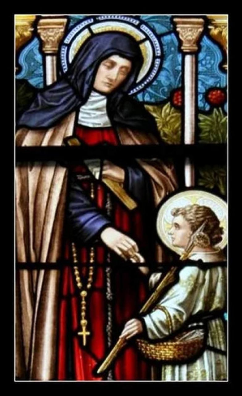 Витраж с изображением святой Жанны