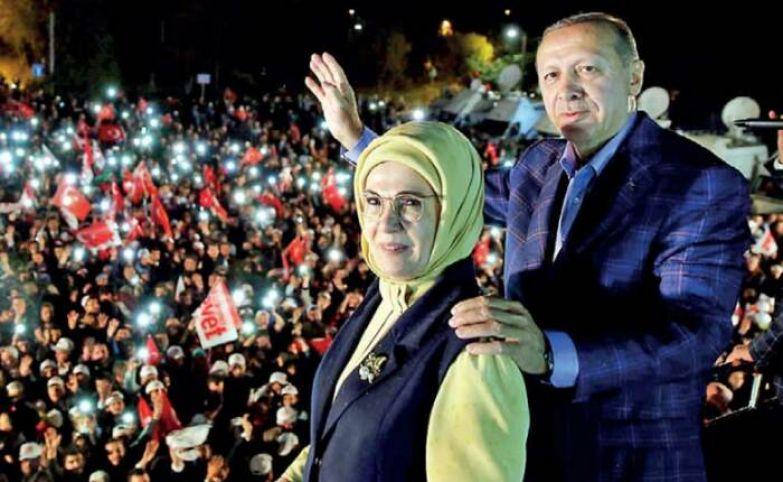 Реджеп Тайип Эрдоган и Эмине Эрдоган. / Фото: www.ft.lk