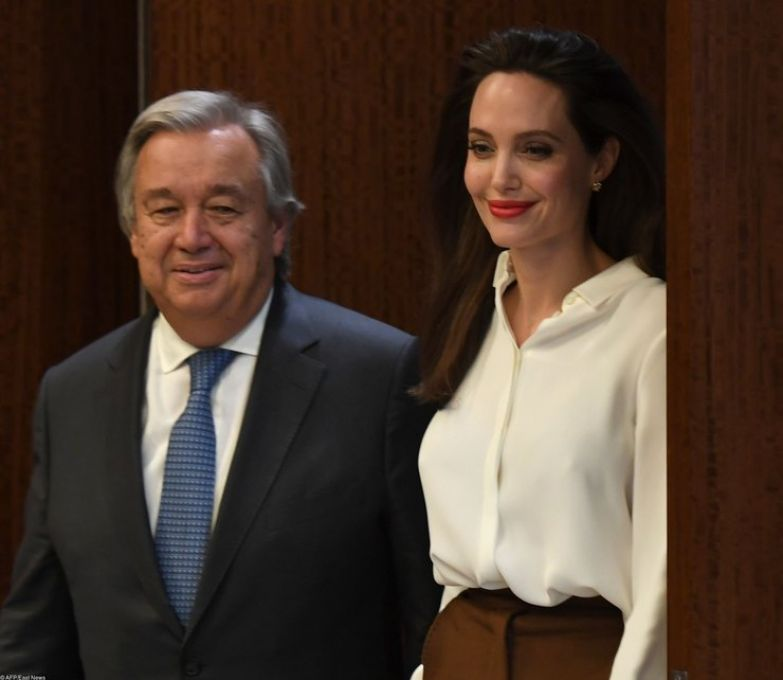 Анджелина Джоли и Антониу Гутерреш