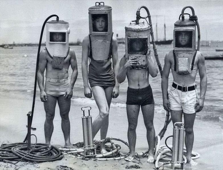 6. Дайверы, 1940-е годы. интересное, исторические фото, история, фото