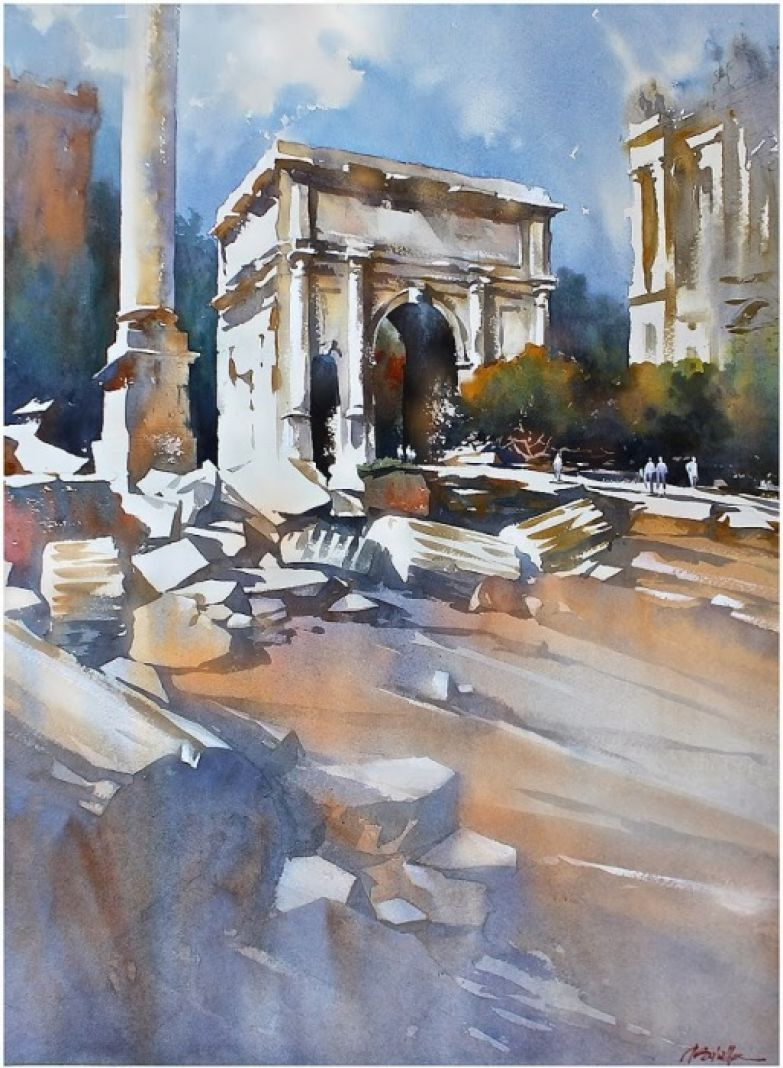 Триумфальная арка Септимия Севера, Рим, Италия. Автор: Thomas Schaller.
