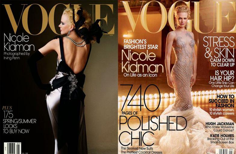 Vogue US, май 2004; Vogue US, сентябрь 2003