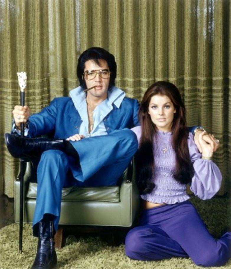 Элвис и Присцилла Пресли, 1971 год.