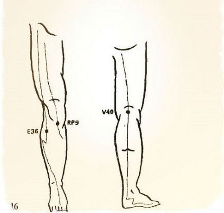 4. Используй эти точки чтобы снять боль в коленном суставе Бальзам, звездочка