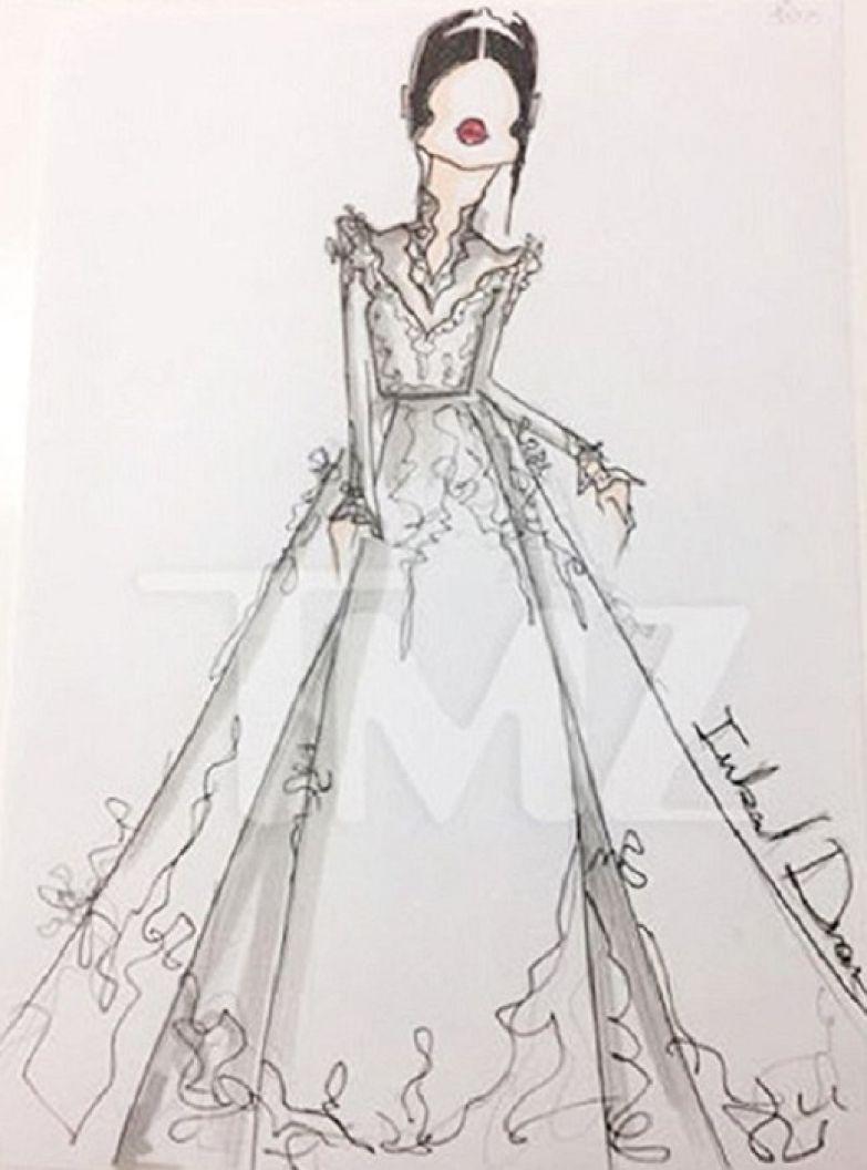 Эскиз платья для Меган Маркл