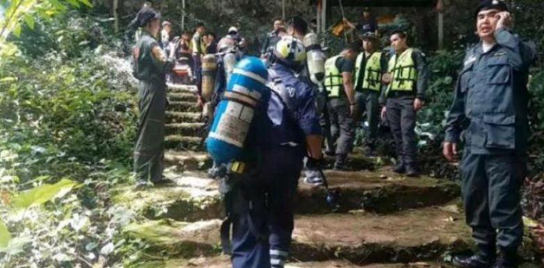 Спасательная операция в Таиланде.