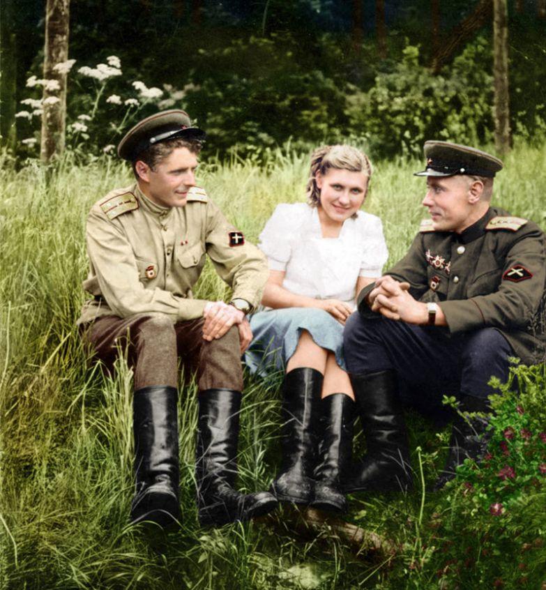17. Противотанковая артиллерия, 1940-е время, россия, фотография, цвет