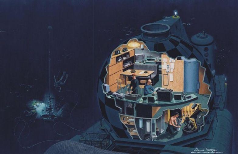Подводная деревня Жака Ива Кусто. жак ив кусто, команда Кусто, подводная деревня, подводная одиссея, исследователи, длиннопост, олдфаги оценят