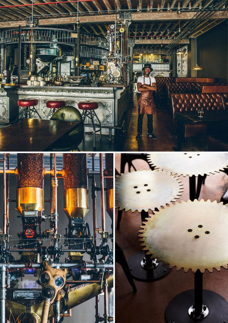 Впечатляющий дизайн в стиле стимпанк, Truth Coffee, Кейптаун, ЮАР мир, подборка, ресторан
