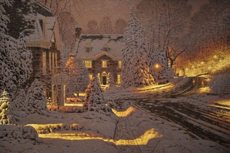 Канадский художник рисует картины, которые согреют вас лучше горячего какао и пледа