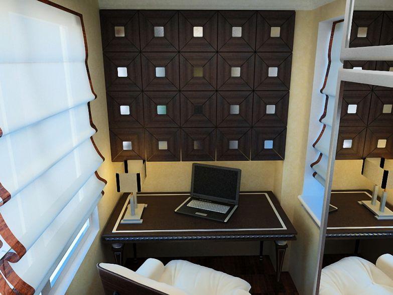 Кабинет на балконе в классическом стиле фото