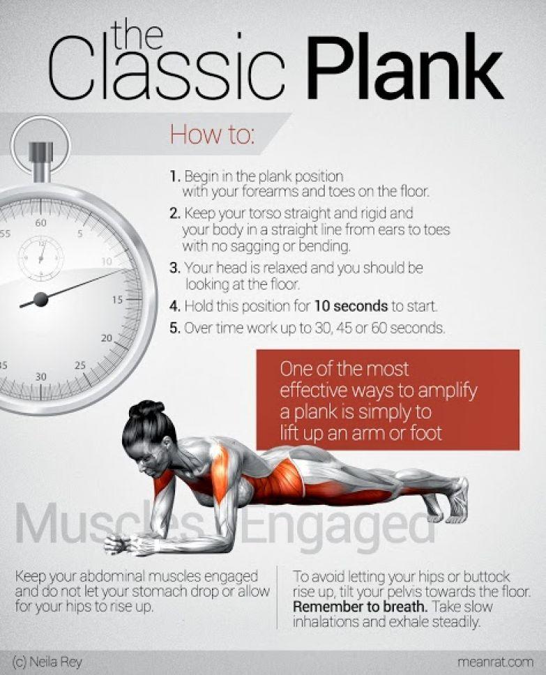 фитнес, классическая планка, как делать