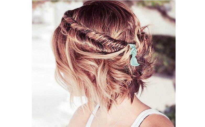 креативные прически на короткие волосы женские