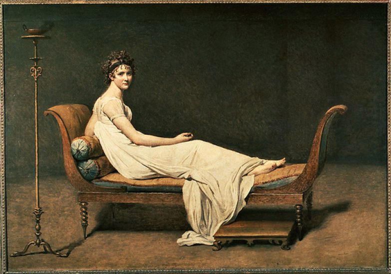 """""""Портрет мадам Рекамье"""" кисти Жак-Луи Давида, 1800"""