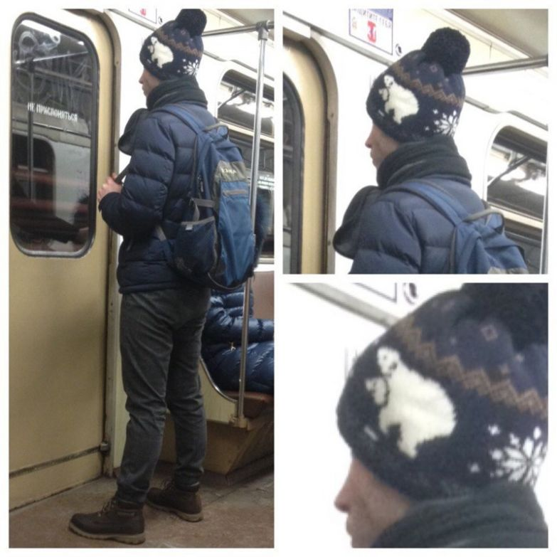 1. Оригинальный узор люди, метро, мода, настроение