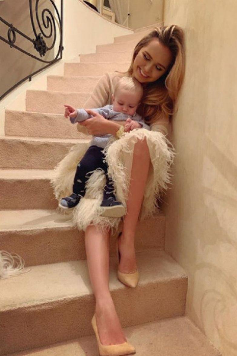 Стефания с младшим братом Марком