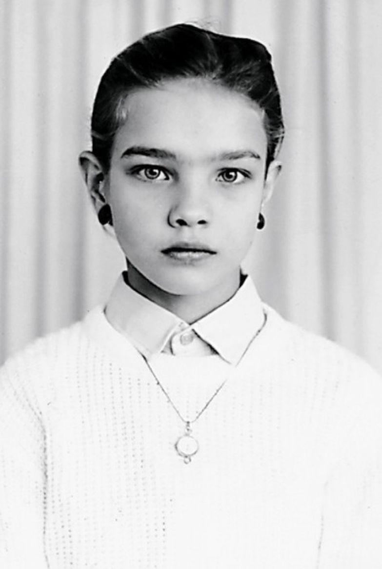 Наталья Водянова в детстве. / Фото: www.woman.ru