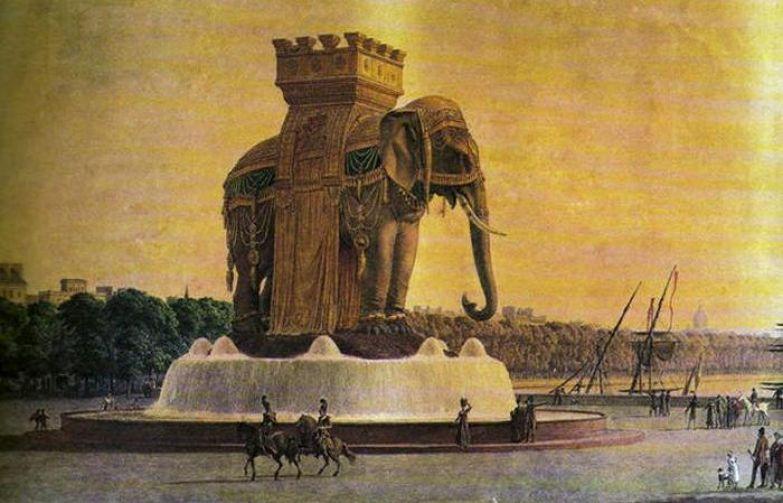 На месте Бастилии Наполеон построил памятник слону.