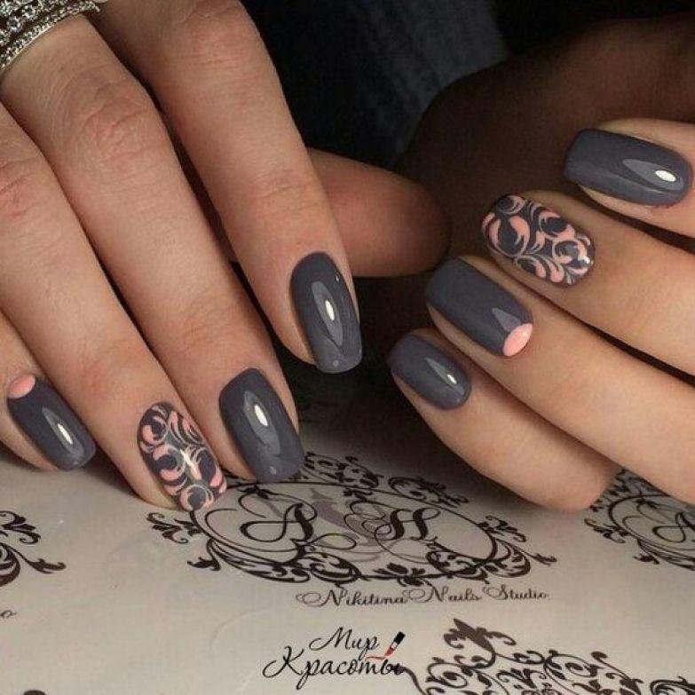 Деловой дизайн ногтей фото