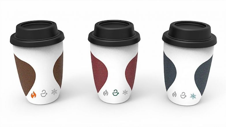 Кофейный стакан с индикатором температуры от Yi Teng Shih, Rengrui Xiang, Yuting Chen