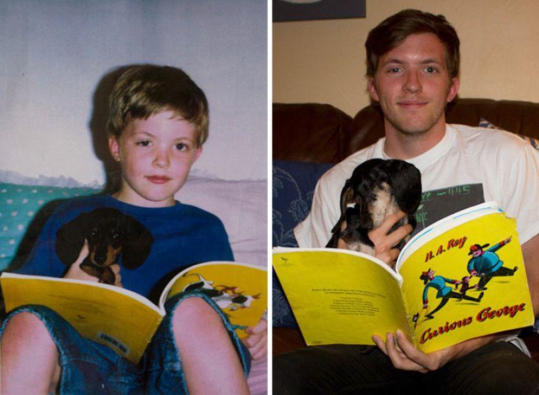 Докер, мы были вместе 14 лет... до и после, друзья, собаки, фото