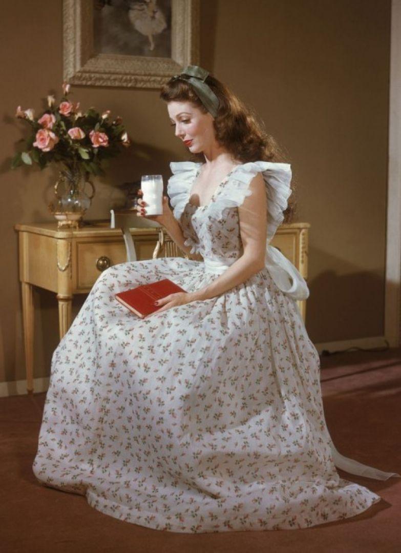 Актриса в роли фермерской дочки за которую она получила Оскара, 1948 год.