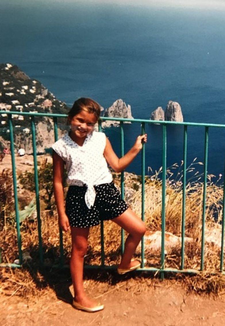 Ксения проводила каникулы на итальянском острове