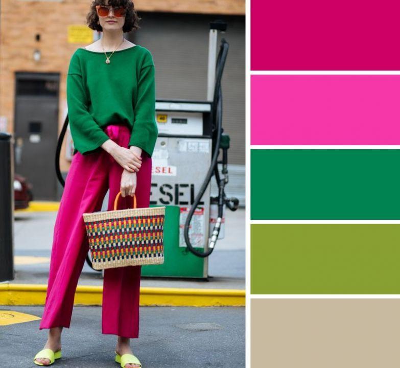 сочетание цветов одежды для женщин