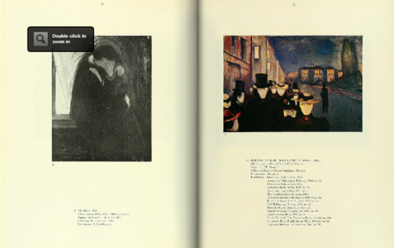Разворот из альбома Эдварда Мунка.