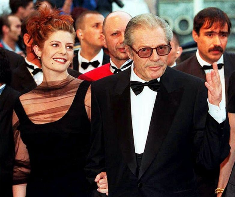 Кьяра Мастроянни со своим отцом Марчело Мастроянни.