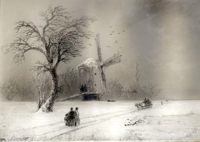 Мельница, 1874 год. | Фото: history-of-art.livejournal.com.